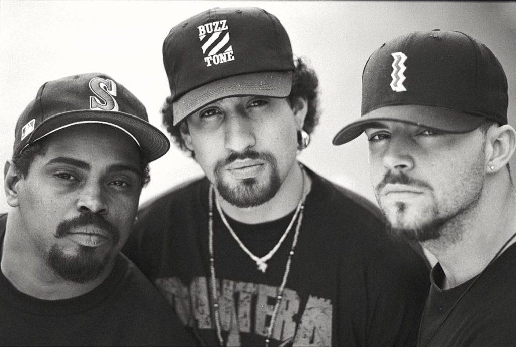 Cypress Hill: Sen Dog, B-Real, DJ Muggs circa 1990's