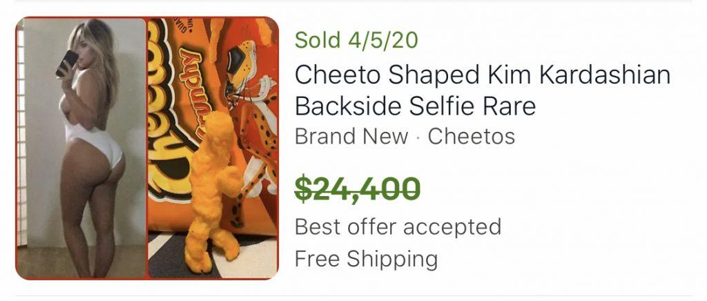 Kim Kardashian shaped unique cheeto