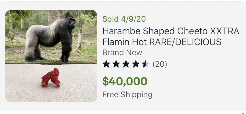 Rare Cheetos shaped like Harambe