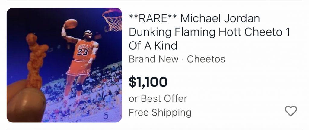 Jordan Shaped rare cheetos