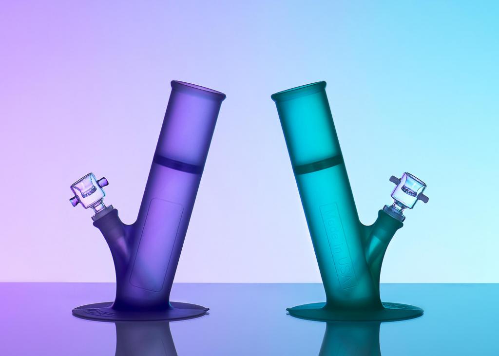 purple silicone bong